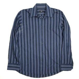 Hugo Boss Men's 16.5 34/35 Striped Dress Shirt